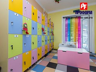 Шкафы в детский сад фото